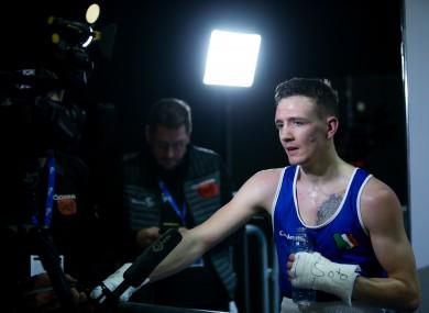 Irish boxing captain Brendan Irvine.
