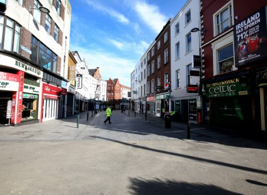 Grafton Street, Dublin on 28 March