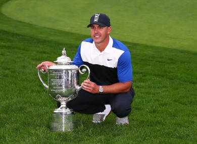 Brooks Koepka after his 2019 PGA Championship victory.