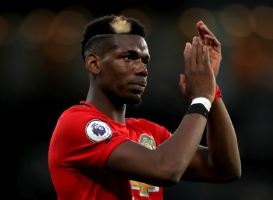 Manchester United's Paul Pogba..