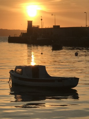 Sunset in Skerries Harbour yesterday.