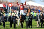 Davy Russell after Tiger Roll's Grand National triumph last April