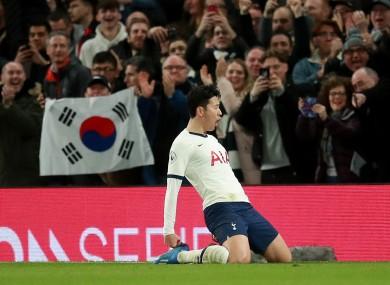 Tottenham player Son Heung-Min.