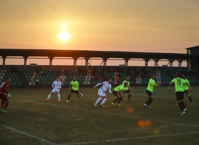 The match between Gorodeya and Shakhter last weekend.