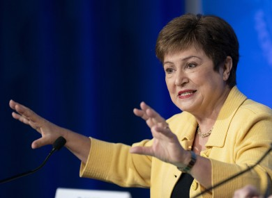 IMF chief Kristalina Georgieva pictured at a press conference in Washington DC las month.