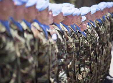 Irish troops in Lebanon.