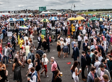 A view of the Galway Races.