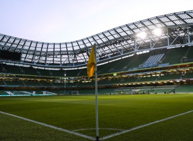 A view of the Aviva Stadium.