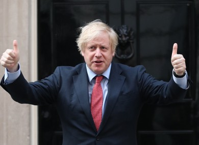 Boris Johnson outside 10 Downing Street earlier this month.