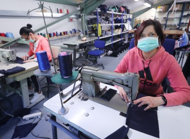 The Kilkenny factory is turning around large quantities of scrubs and gowns every day.
