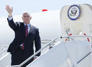 Vice president of the US Mike Pence.