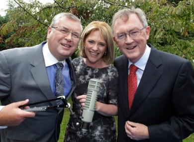 Sean O'Rourke, Mary Wilson and Joe Duffy back in 2013.