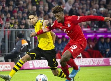 Dortmund's Achraf Hakimi and Bayern Munich winger Kingsley Coman.