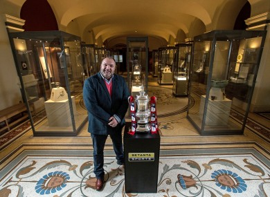 Neil Ruddock pictured here with the FA Cup. The FA intend to complete this year's competition.