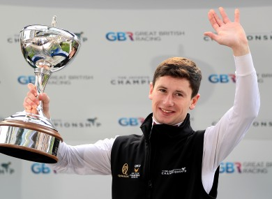 Oisin Murphy when he was crowned champion jockey last October.