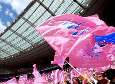 Stade Francais flags.