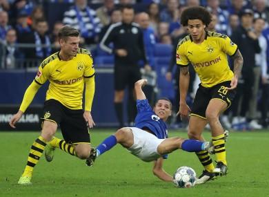 Dortmund playing Schalke earlier this season.