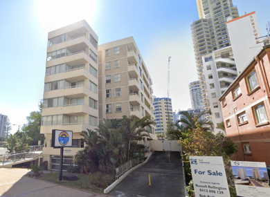 The apartment complex where Cian English fell on View Avenue in Brisbane