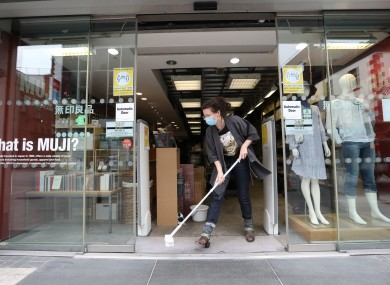 Businesses in Dublin city centre were getting ready for re-opening yesterday.