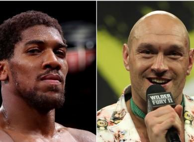 Anthony Joshua (left) and Tyson Fury.