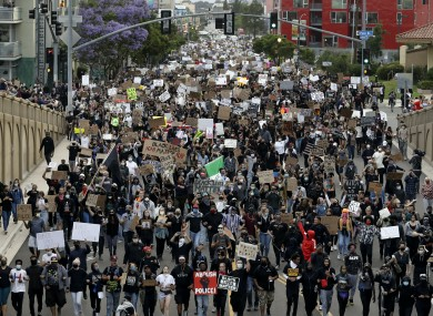 Up to 200,000 protesters are expected on the streets of the US capital today.