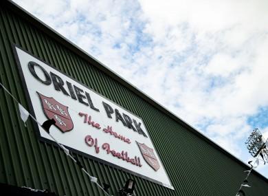 Dundalk's stadium, Oriel Park.