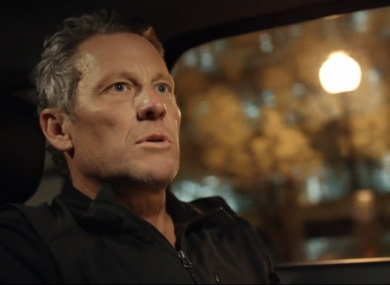A still of Lance Armstrong from the ESPN series, Lance.