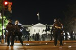 US President Donald Trump sheltered in the White House, where protests continue