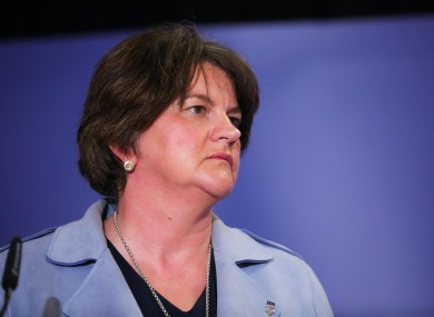 File image of NI First Minister Arlene Foster.