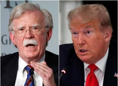 John Bolton and US President Donald Trump