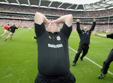 Joe Kernan's reaction at the full-time whistle of the 2002 All-Ireland.