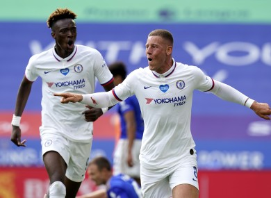 Ross Barkley celebrates the only goal of the game.