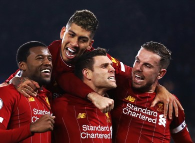 Liverpool players celebrate (file pic).