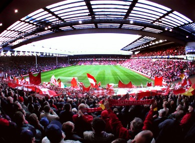 File photo of Anfield.