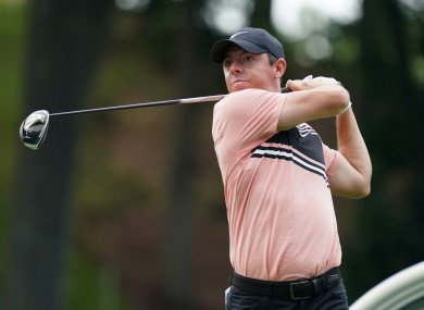 Rory McIlroy in action in the opening round.