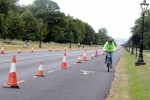 A cyclist in the Phoenix Park