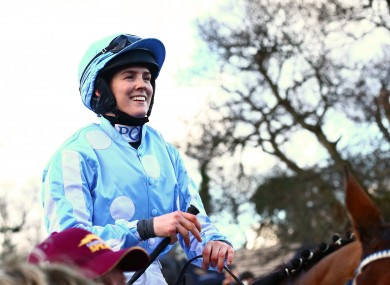 Rachael Blackmore (file photo) will ride in Saturday's Derby at the Curragh.