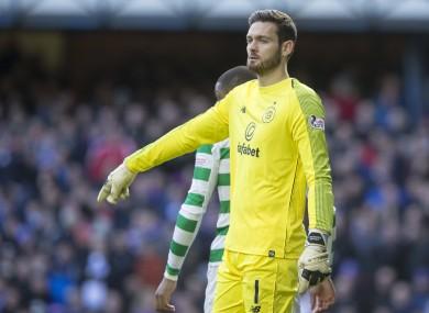 Craig Gordon in action for Celtic in 2018.