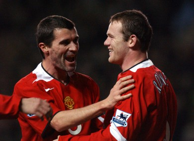 Rooney looked up to Keane as captain at Manchester United.