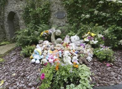 Flowers laid at Bessborough House in Blackrock, Cork.