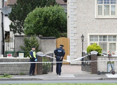 Gardaí at the scene in Croftwood Park in Ballyfermot.