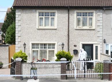 Garda Forensics at the scene in Croftwood Park in Ballyfermot yesterday