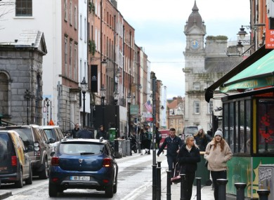 South William Street is one of five city centre streets that will be trial pedestrianised