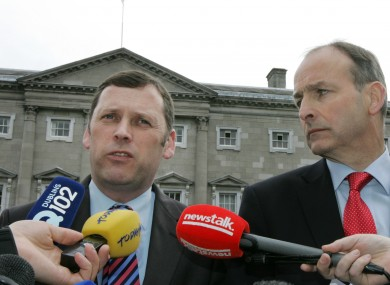 Barry Cowen and Micheál Martin in 2012.