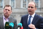 Barry Cowen, left, alongside Micheál Martin, in 2016.