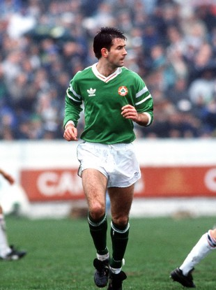 Ireland's Brian Mooney pictured during a B international against England in 1990.