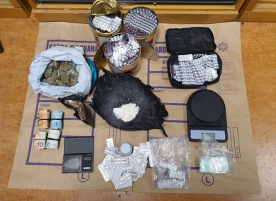 Drugs and cash recovered by gardaí