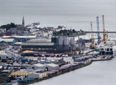 File image of Narrow Water Point and Warrenpoint Port seen from Flagstaff Viewpoint on the hills outside Newry.
