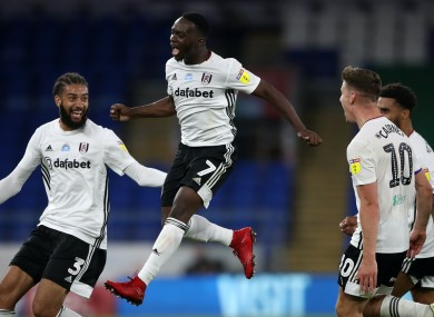 Neeskens Kebano, centre, made the difference for Fulham.