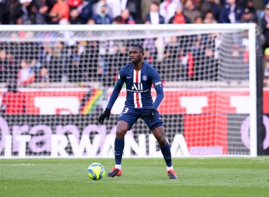 Young French player Tanguy Kouassi.